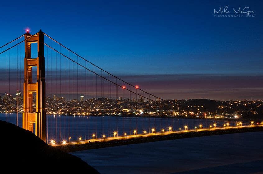 Golden Gate Bridge Tower at Sunrise