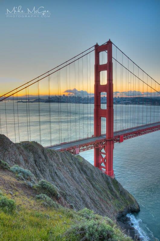 Golden Gate Bridge Cliffside