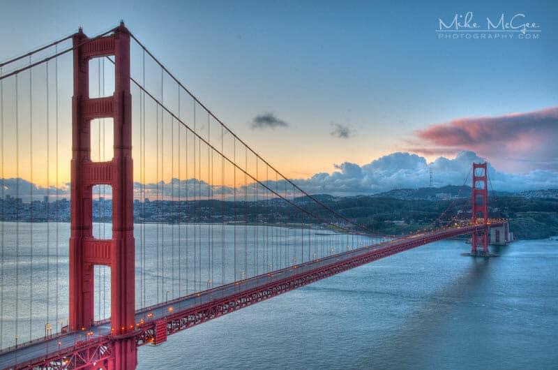 Full Span of the Golden Gate Bridge