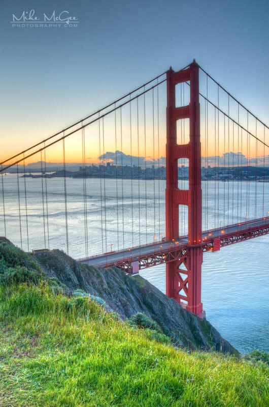 Golden Gate Bridge's North Tower Vista
