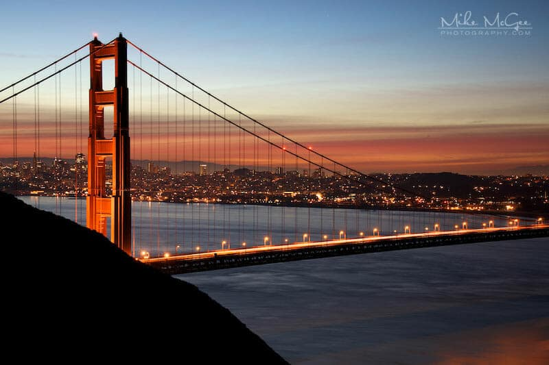 Golden Gate Bridge Tower at Dawn