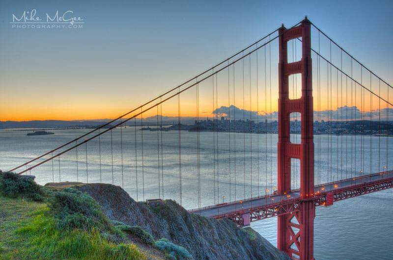 Golden Gate Bridge Tower Cliff