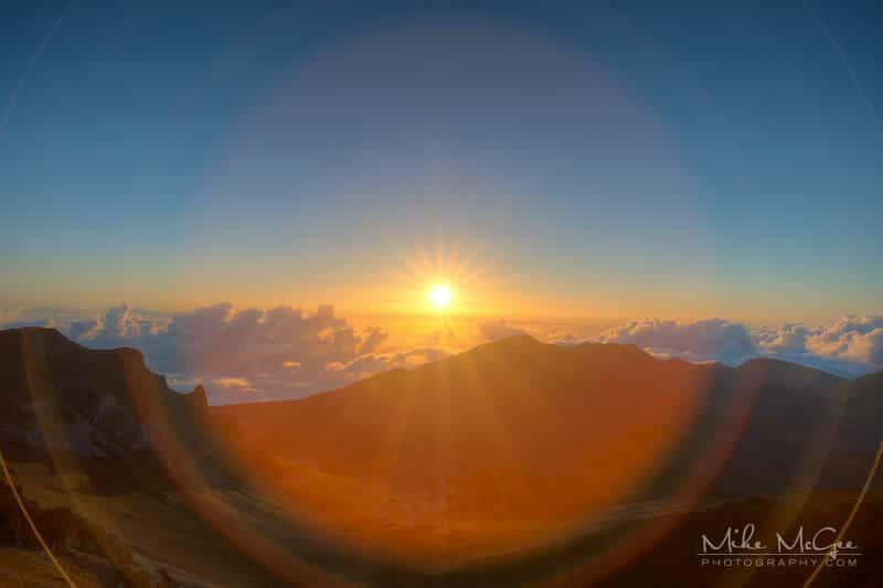 Haleakala Sunrise taken in Maui, Hawaii