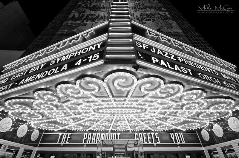 Entryway into the Paramount Theater in Oakland, California