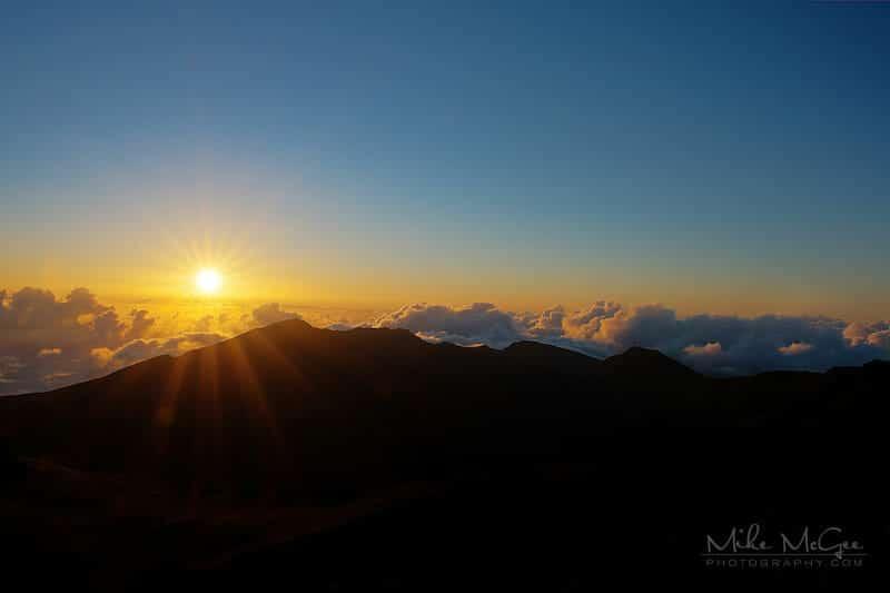 Sunrise from Haleakala mountain in Maui, Hawaii