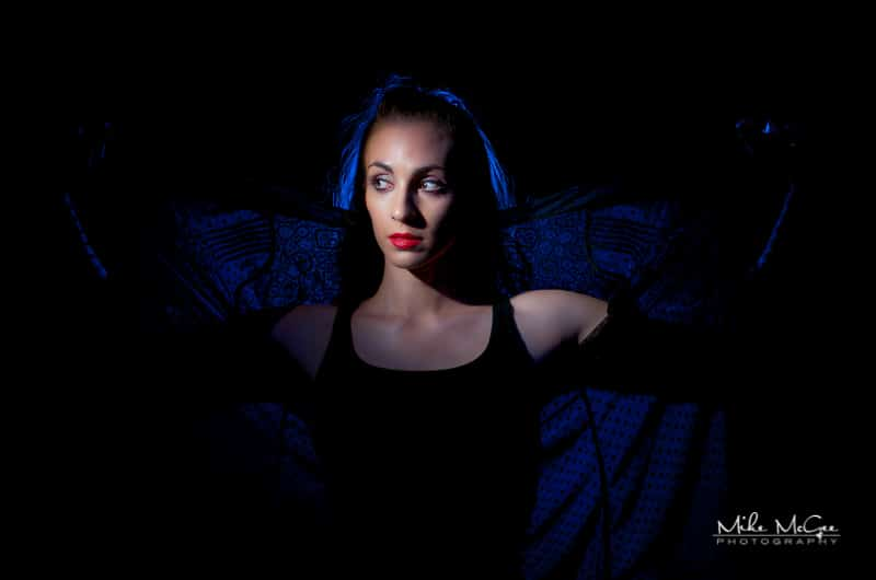 Colored Gel Speedlight Portrait