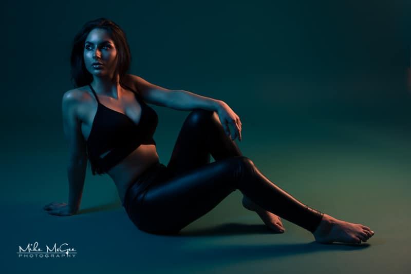 Elena Model Hypercolor Colored Gel Portrait Photographer