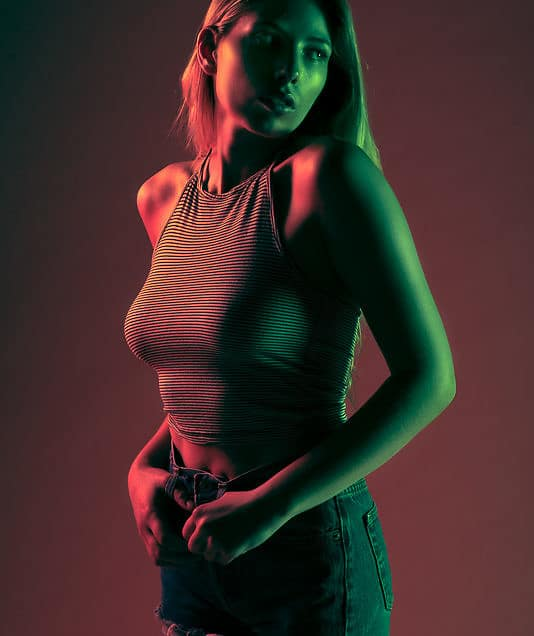 Lighting Portrait with Colored Gels