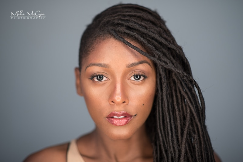 Jaida Model Beauty Headshot Series