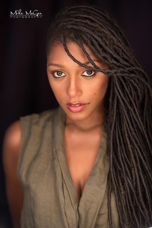 Jaida Model Beauty Headshot Series