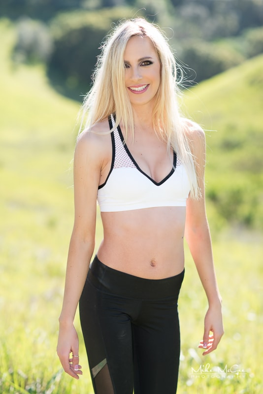 Allie workout fitness activewear photoshoot