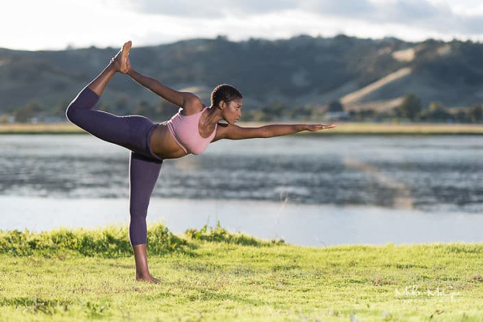 Jaida outdoor yoga activewear photoshoot