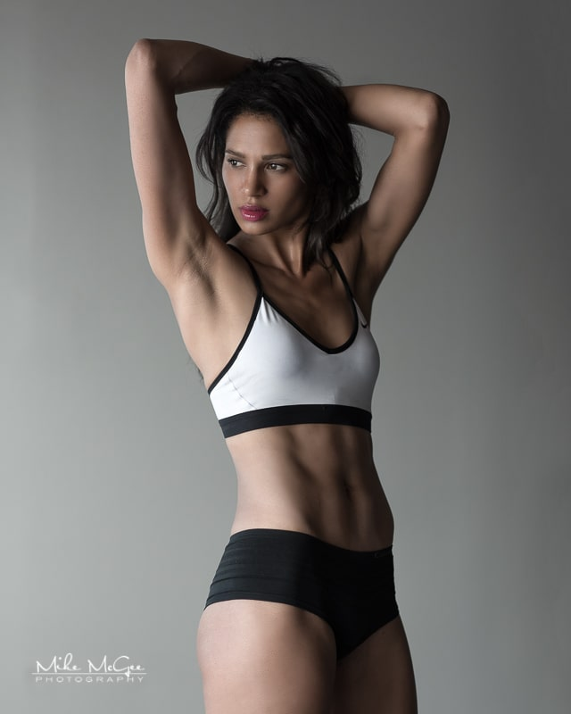 Katwalkkatt fitness activewear photoshoot