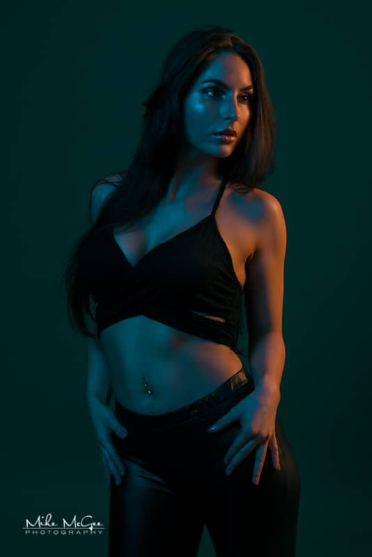 Elena Rose hypercolor colored gel portrait photographer san francisco bay area