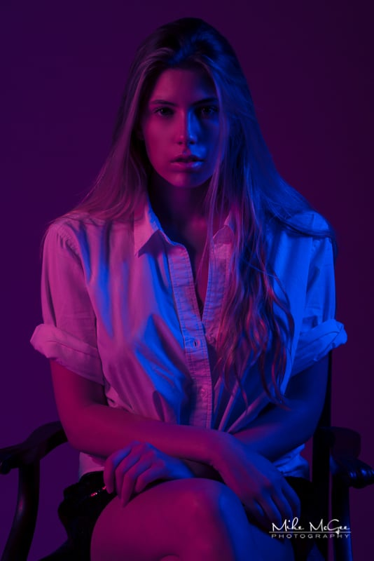 Madeline Skinner hypercolor colored gel portrait photographer san francisco bay area
