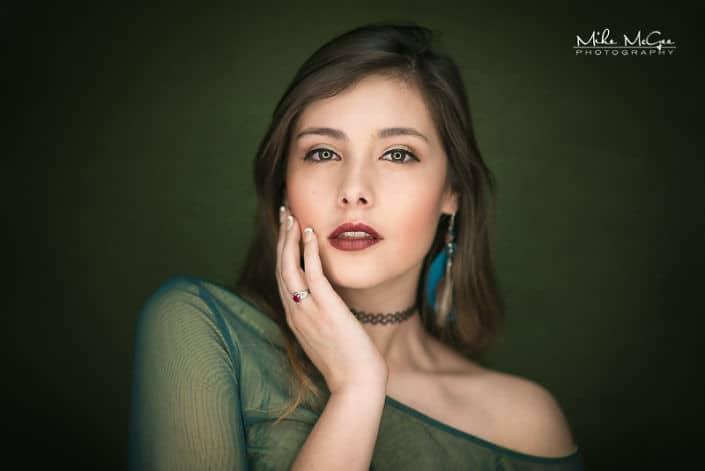 Stefani Sotelo ringlight beauty headshot photographer san francisco bay area