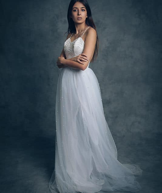 Sadaf Wedding Gown Bridal Shoot – Savage Milano Hand Painted Muslin