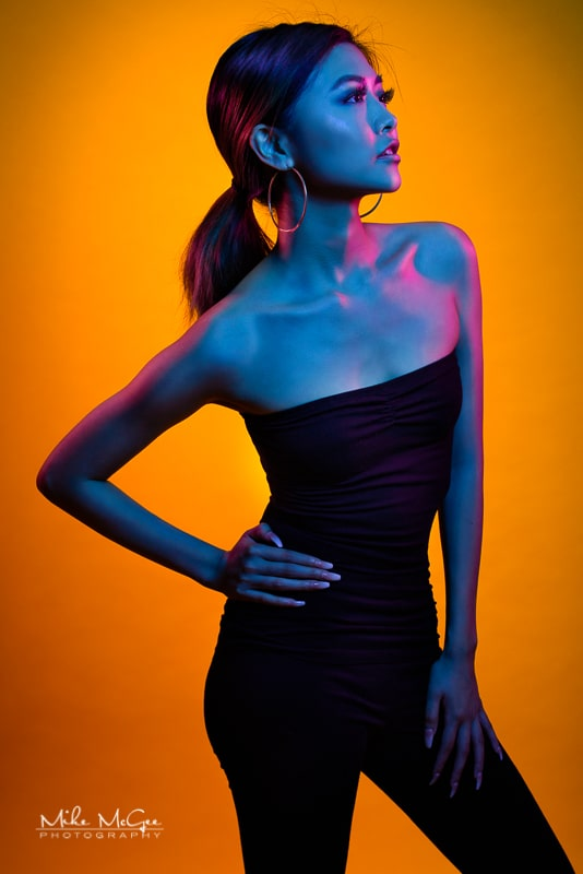 Nancy hypercolor colored gel artistic creative portrait photographer san francisco bay area