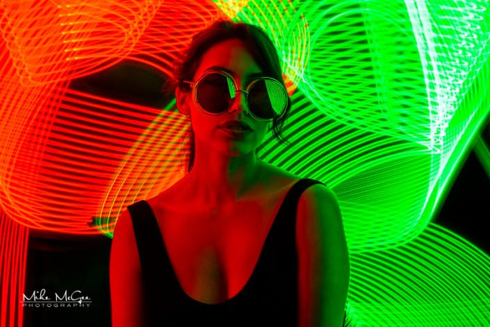 Karina hypercolor colored gel artistic creative light painting long exposure portrait photographer san francisco bay area