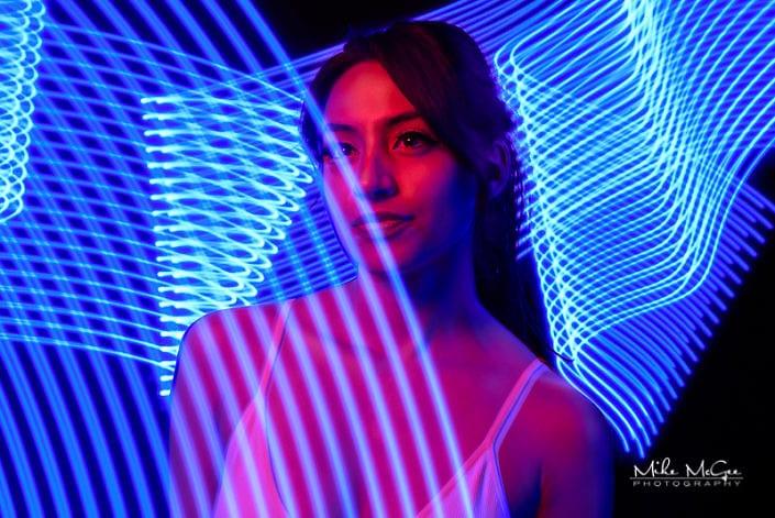 Karina hypercolor colored gel artistic creative light painting long exposure portrait photographer san francisco bay area