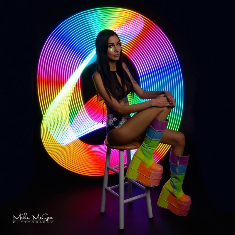 Emma hypercolor colored gel artistic creative light painting long exposure LED wand portrait photographer san francisco bay area
