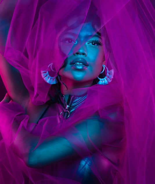 Vibrant Purple Hypercolor Editorial Photoshoot