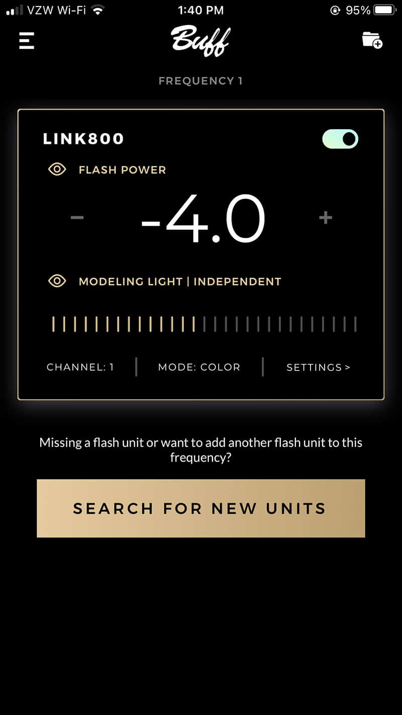 Paul C. Buff PCB Link Flash Unit Strobe Product Review Buff App for iOS and Android