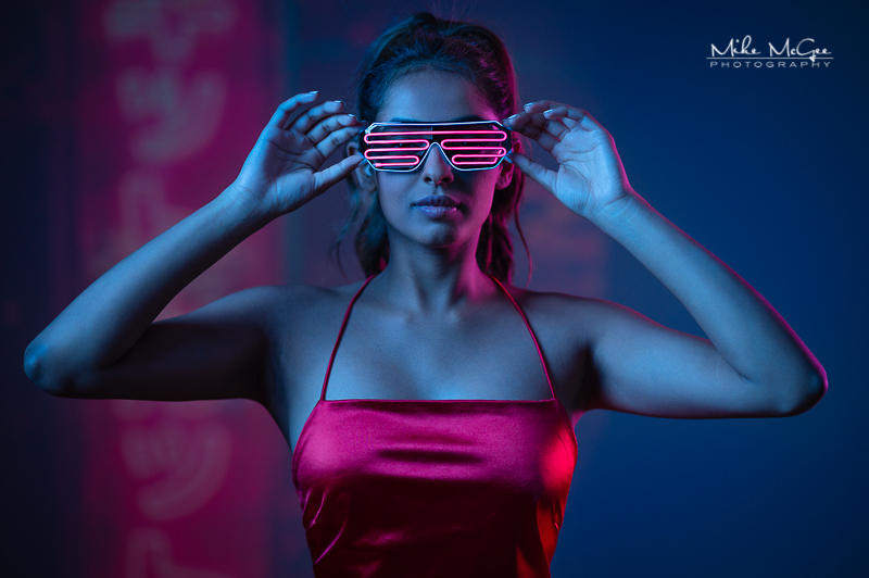Hypercolor colored gel artistic cinematic light video projector creative portrait photographer san francisco bay area Spotify album cover